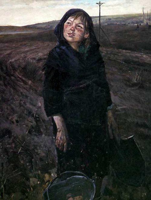 Victor Safronov. On the potato field. 1980s