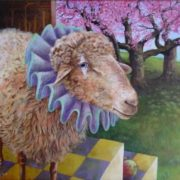 Wendy Vaughan. Harlequin Sheep