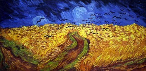 Wheat field with crows. Vincent van Gogh