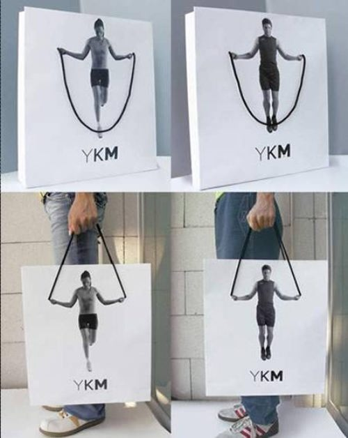 YKM Advertising on the Package