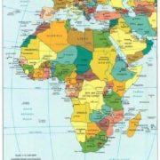 Africa on the map