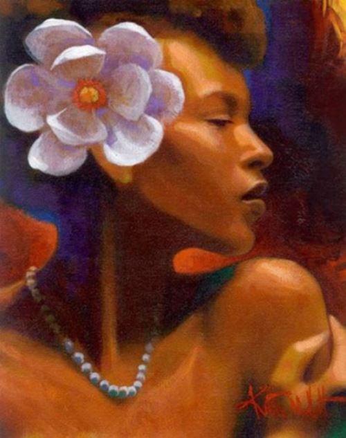 African woman. Artist Keith Duncan Mallett