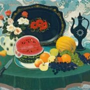 Anatoly Nenartovich. Still Life with a Watermelon. 1981