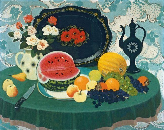 Anatoly Nenartovich. Still Life with a Watermelon. 1981