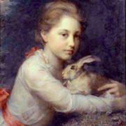 Anna Lea Merritt. Minna Sophia Farrar Holding A Hare