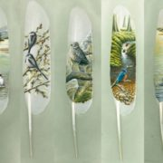 Attractive feather art by Ian Davie