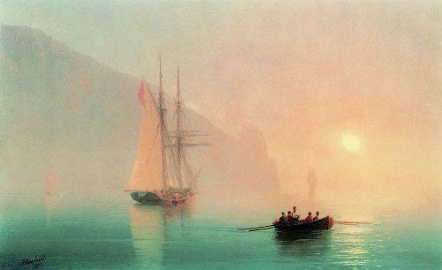 Ayu-Dag on a foggy day. Ivan Aivazovsky