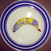 Banana China pattern by Elisa Roche