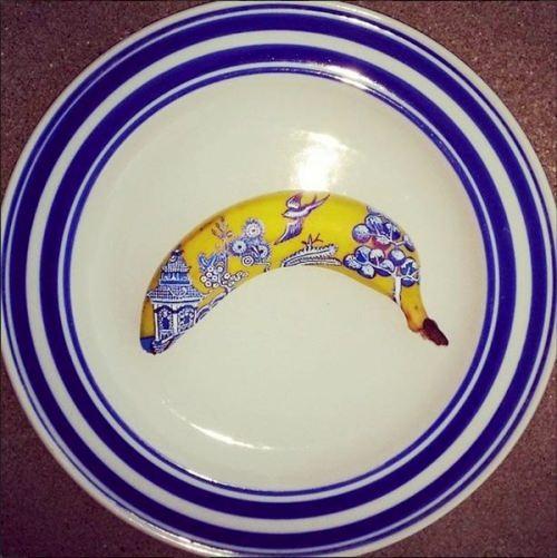 Banana China pattern by Elisa Roche