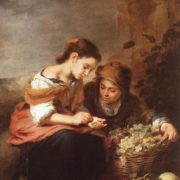 Bartolomeo Esteban Murillo. The small sellers of fruit, 1670-75