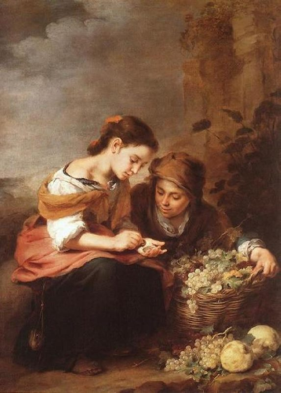 Bartolomeo Esteban Murillo. The small sellers of fruit, 1670-75