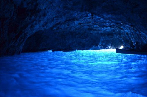 Blue Grotto on the island of Capri