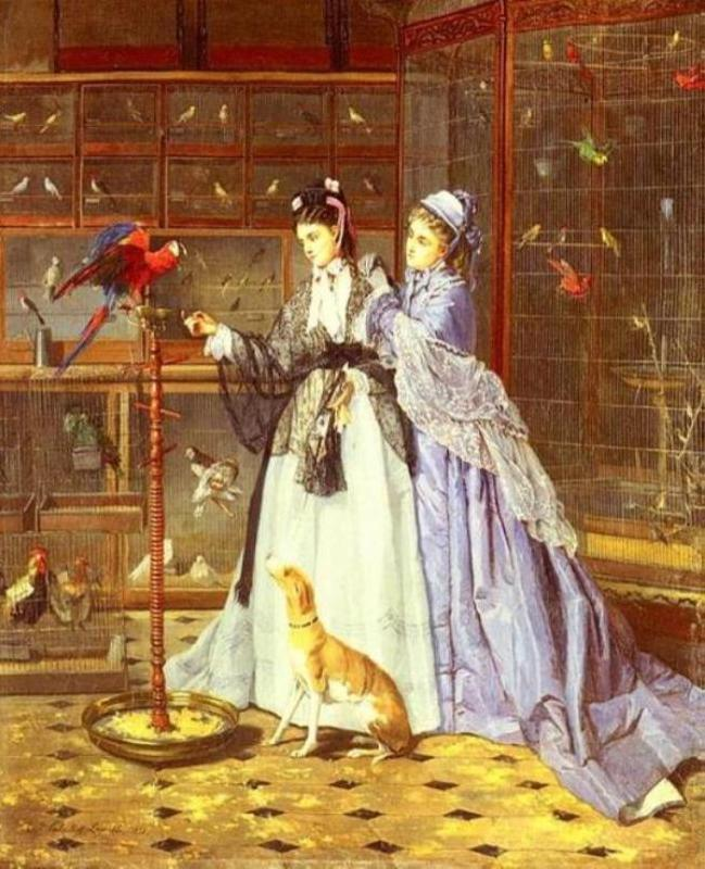 Camille Cabaillot Lassalle. At The Birdsellers, 1873