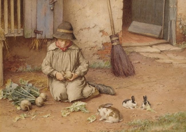 Charles Edward Wilson. Feeding the Pets