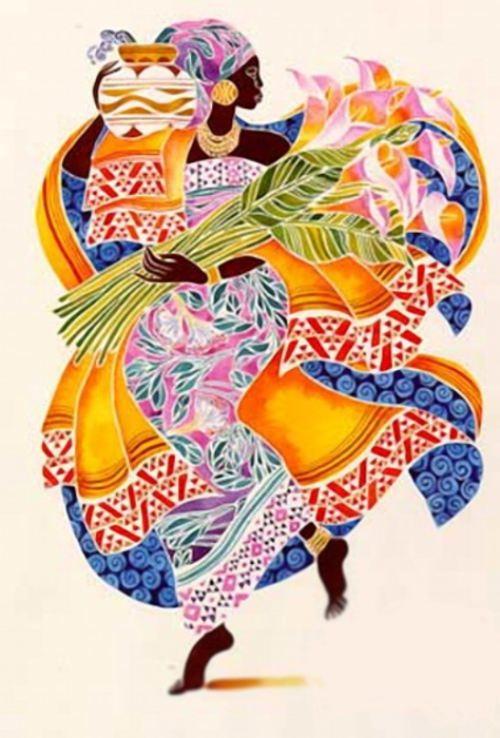 Colorful dresses. Artist Keith Duncan Mallett