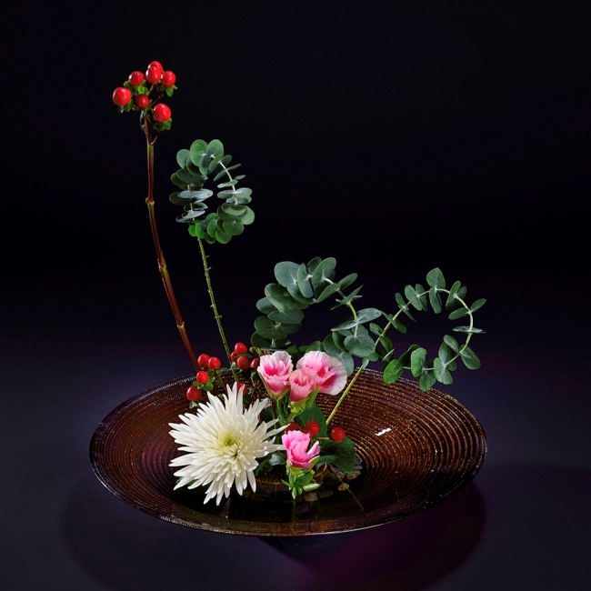 Colorful ikebana
