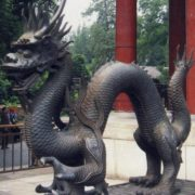 Dragon Monument in Beijing, China
