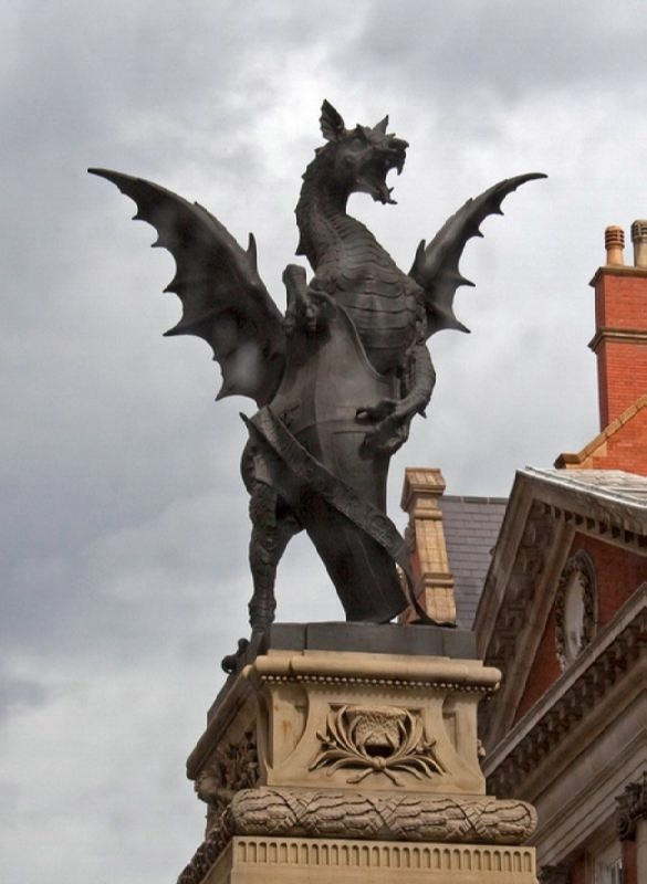 Dragon Monument in London, UK