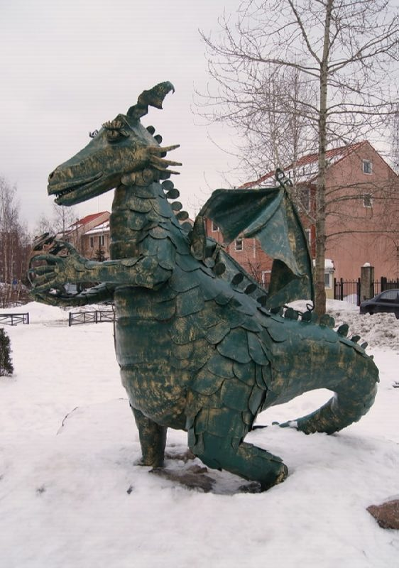 Dragon Monument in St. Petersburg, Russia