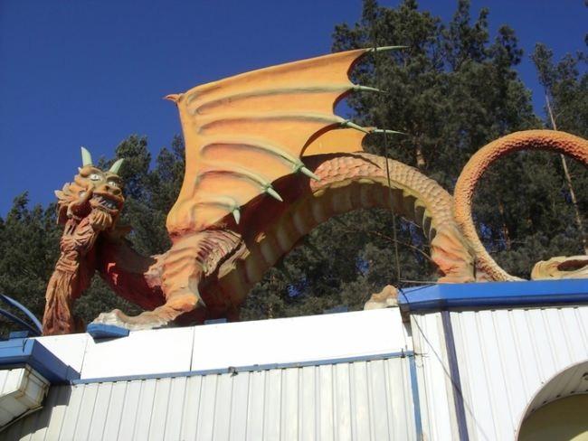 Dragon Monument in Yekaterinburg, Russia