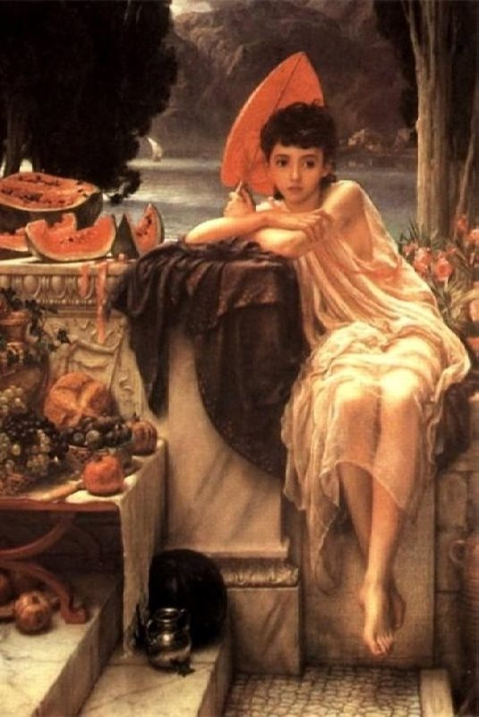 Edward John Poynter. On the Temple Steps