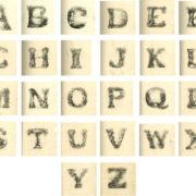 English alphabet drawn by L.E.M. Jones