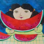 Esau Andrade. Girl with Watermelons.
