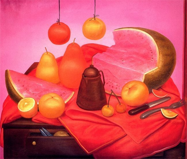 Fernando Botero. Still Life with Watermelon. 1976