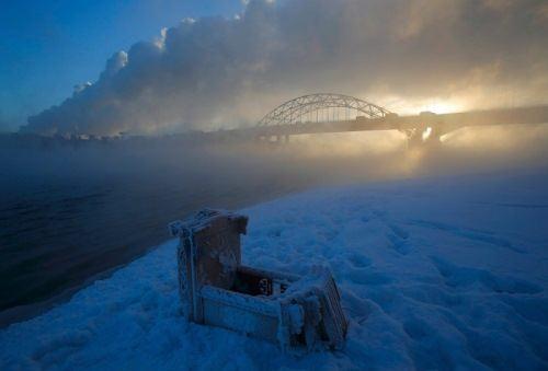 Fog over the river, February 7, 2017