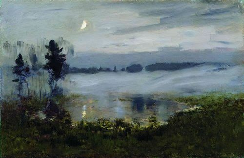 Fog over the water. Isaac Levitan
