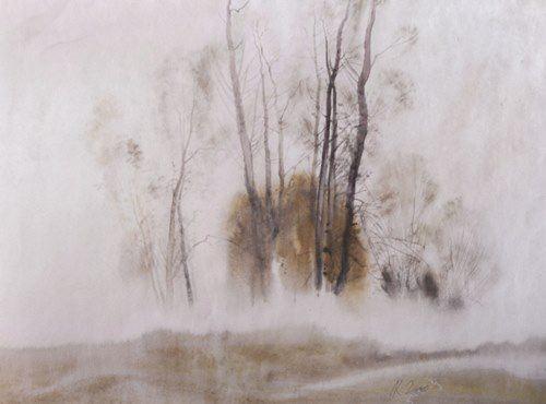 Foggy morning. Klim Lee