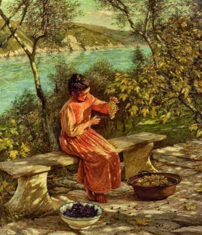 Henry Herbert La Thangue. Ligurian Grapes.