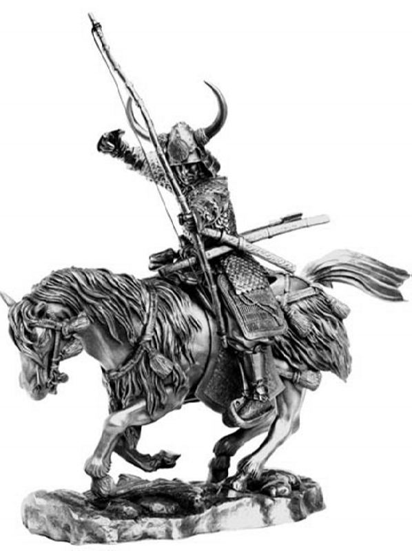 Horse warrior statuette