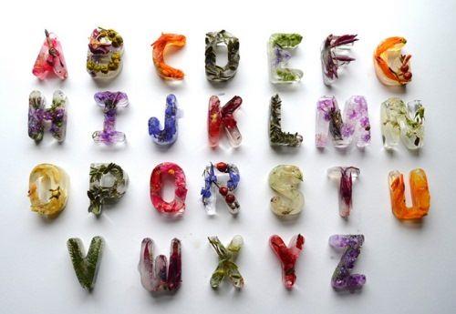 Ice cubes alphabet by Petra Blahova