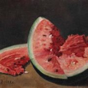 Ilya Mashkov. Watermelon slices, 1938