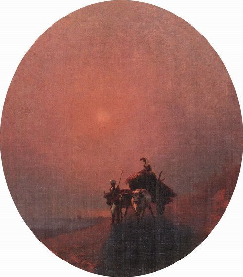 In the fog. Aivazovsky