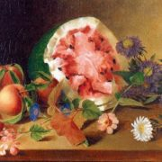 James Peale. Still Life with Watermelon. 1829