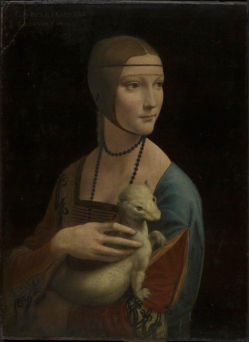 Leonardo da Vinci. Portrait of Cecilia Gallerani (Lady with the Ermine)
