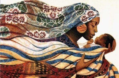 Maternal instinct. Artist Keith Duncan Mallett