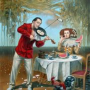 Michael Cheval. Breakfast with Humpty-Dumpty. 2015