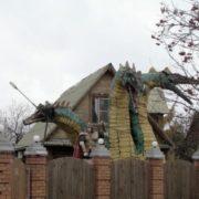 Monument to Zmey Gorynych in Suzdal, Vladimir region, Russia
