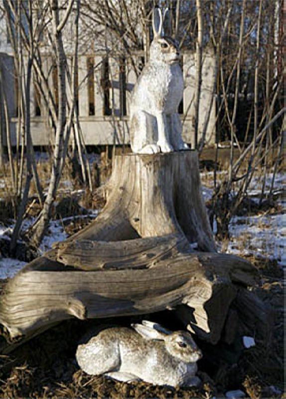 Monument to hare in Yakutsk