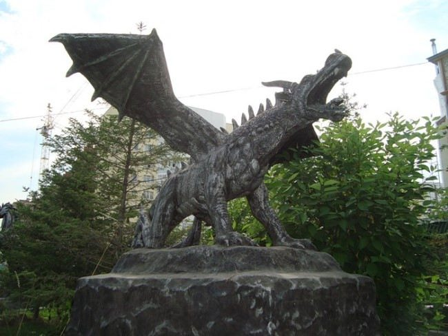 Monument to the Dragon in Novosibirsk, Russia