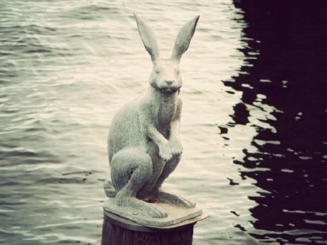 Monument to the bunny who escaped the flood, St. Petersburg