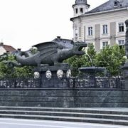 Monument to the dragon in Carinthia, Austria