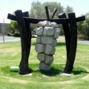Monument to the grapes in Israel