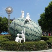 Monument to the watermelon in Pinghu, China