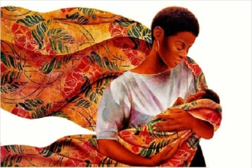 Mother's love. Artist Keith Duncan Mallett