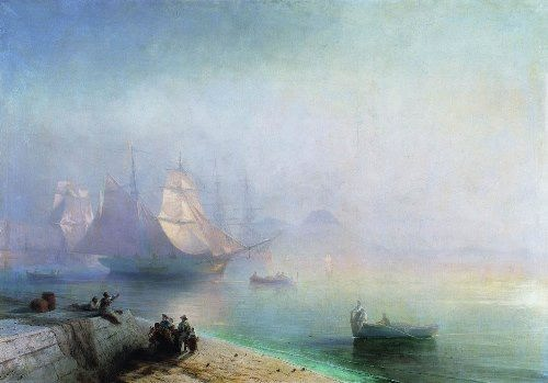 Neapolitan Bay in a misty morning. Aivazovsky
