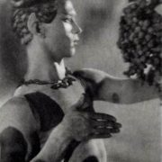 Nizhinsky in the role of the Fawn in the ballet by Claude Debussy Afternoon of the Faun, 1912